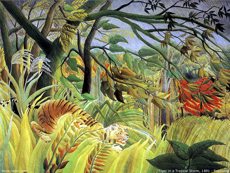 Tiger in a Tropical Storm—Henri Rousseau