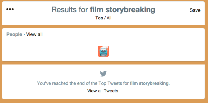 film storybreaking twitter search